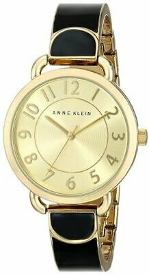 New Anne Klein Women's Easy-to-Read Two-Tone Bangle Watch AK/1606BKGB