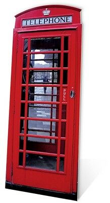 Red Phone Box Cardboard Cutout Fun Figure 191cm Tall - Great for Themed Parties](Movie Themes For Parties)