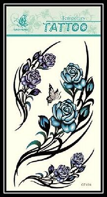 Tattoos Of Love (Sex Rose of love Flower Branch Butterfly Removable Temporary Tattoo GF)