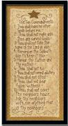 Ten Commandments Framed