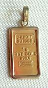 Suisse Gold Pendant