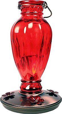 Perky Pet 8133-2 Daisy Vase Vintage Glass Hummingbird Feeder