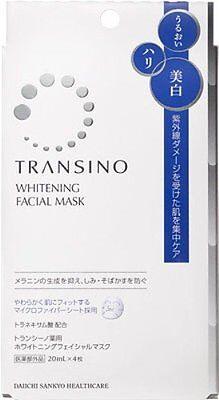 Daiichi Sankyo Healthcare TRANSINO Whitening Facial Mask 20ml x 4 Sheet