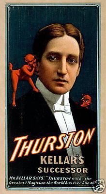 Vintage Repro Magicians Theatre Flyer - Thurston  ref#3