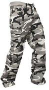 Mens White Cargo Trousers