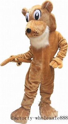 Corby Cougar Mascot Costume Halloween Deluxe Suit Outfit Fancy Dress Animal 2018