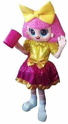 Adult Make-up Pink Girl Mascot Costume Suits Cosplay Party Game Dress Halloween