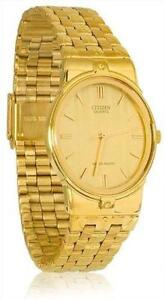 citizen quartz watches gold mens citizen quartz watch