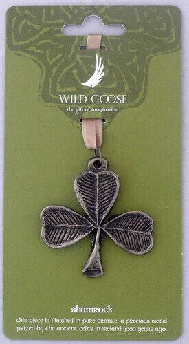 """WIld Goose Studio Export Ltd. Shamrock Hanging Bronze Decoration 2"""" x 2"""""""