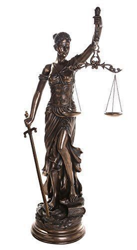 Large 48 Inch Lady Justice Scales of Justice La Justitia Statue Lawyer Attorney