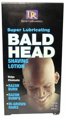 DR Super Lubricating BALD HEAD Shaving Lotion 4oz Hair Removal Head Shavers