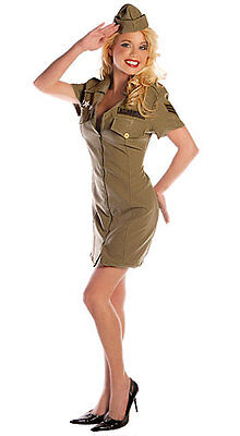 SEXY FLY GIRL COSTUME ARMY MILITARY AIR FORCE UNIFORM ADULT WOMAN LADY COSTUME