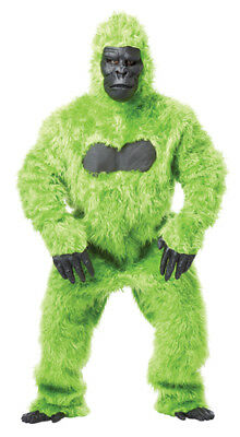 Green Gorilla Suit Ape Adult Halloween Costume - Green Suit Halloween Costume