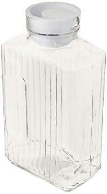glass bistro pitcher with white stopper 64