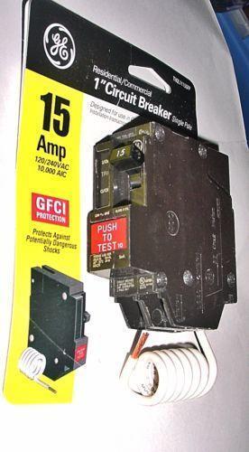 60 Amp Breaker >> GE 15 Amp Breaker   eBay
