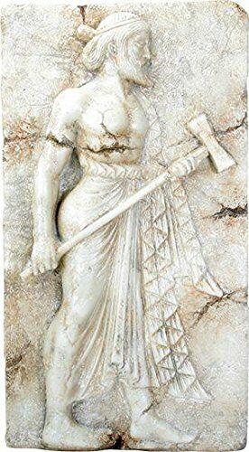 "Ebros Vulcan Roman Relief from Herculaneum Wall Plaque Large 16.5"" Long Replica"