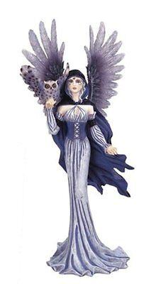"11"" Inch Fairy with Owl Statue Figurine Figure Fairies Magic Fantasy"