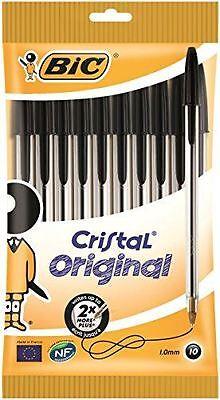 BIC Cristal Original 1.0 mm Ball Pen - Black, Pack of 10