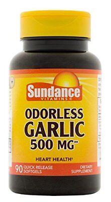 2 Pack Sundance Odorless Garlic 500mg Tablets 90 Count Each (Garlic 500 Tablets)