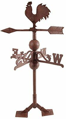 NEW Fallen Fruits Cast Iron Rooster Weathervane Rooster Wind Vane Outdoor Decor