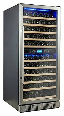 Kalamera 117 Bottle Compressor Wine Cooler Dual Zone With Touch Control