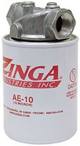 Hydraulic Oil Tank Return Filter Assembly Zinga AE-10 Micron with 3/4