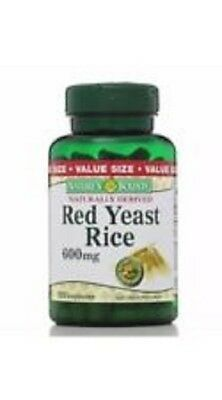 New Nature's Bounty Red Yeast Rice 600 mg 120 Capsules EXP 7/20 or