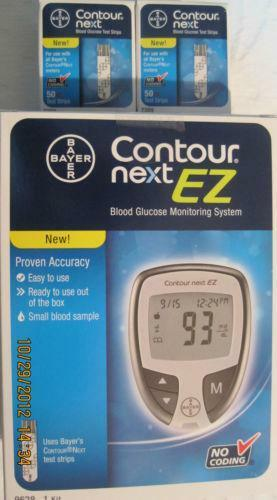 Free Blood Glucose Meter >> Bayer Contour Blood Glucose, 100 Test Strips | eBay