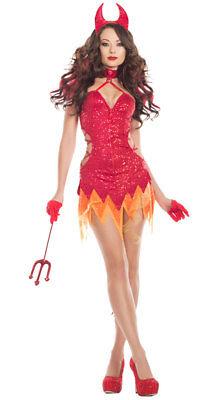 Sexy Starline Flaming Diva Devil Sequin Red Dress Costume - Devil Diva Costume