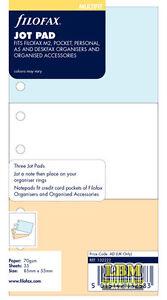 Filofax Jot Pad  (to fit Pocket Personal A5 Deskfax size) Insert Refill 132222