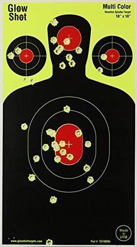 Silhouette Reactive Targets for Gun Rifle Airsoft & BB Guns 100-Pack