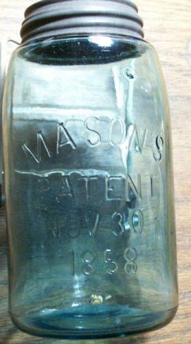 old blue mason jars ebay. Black Bedroom Furniture Sets. Home Design Ideas