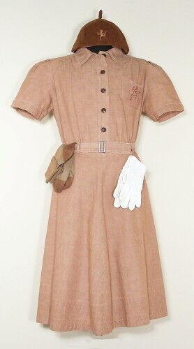 Original c1950 Girl Scout Brownie Uniform Plus