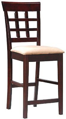 Contemporary Style Cappuccino Finish Wood (Coaster Contemporary Style Counter Height Stools, Cappuccino Finish, Set of)
