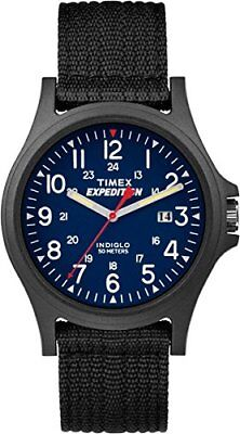 NEW Timex TW4999900 Mens Expedition Acadia Blue Dial Black Nylon Strap Watch