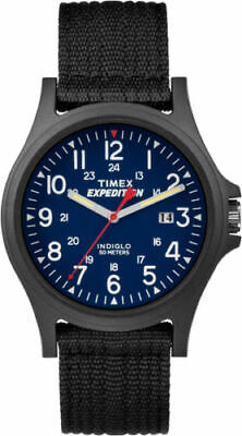 "Timex TW4999900, Men's ""Expedition Acadia"" Nylon Indiglo Watch, Blue Dial, Date"