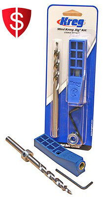 Pocket Hole Jig Kit Mini Drill Bit Allen Wrench Woodworking Joinery Drilling
