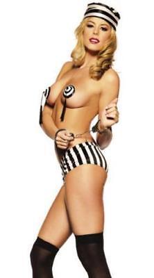 Sexy Halloween Costume. Bad Girl Naughty FOR WOMEN Jail Girl TASSLE & - Bad Halloween Costume