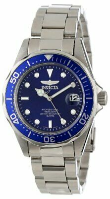 Invicta Men's Pro Diver Quartz 200m Silver Tone Stainless Steel Watch 9204