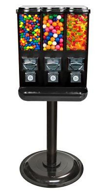 Triple Time Gumball Candy Vending Machine - Black