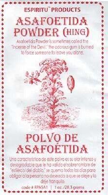 Asafoetida Powder Devil's Dung Voodoo Hoodoo Wiccan Pagan Witchcraft Ritual