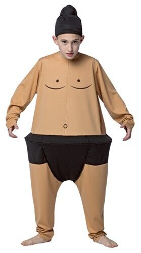 Kids Sumo Wrestler Costume Funny Hoop Outfit Halloween Dress Up Ninja Medium M