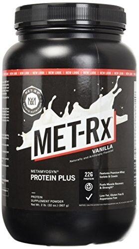MET-Rx Protein Plus Powder Vanilla 2 Lb Protein Blend 43g Sh