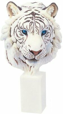 "9.5"" White Tiger Collectible Wild Cat Animal Decoration Figurine Statue Figure"