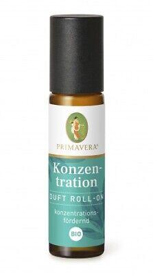 PRIMAVERA Roll-on Konzentration Massageöl Bio Roll on ideal für Unterwegs