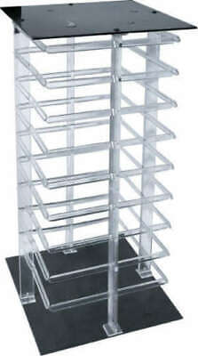 Earring Display Stand Revolving Clear Acrylic Rotating Holds 144 Earring Cards ()