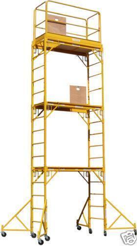 4 Aluminum Rolling Scaffold : Scaffolding rolling towers ebay