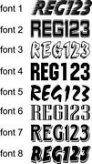 Boat Rego Stickers
