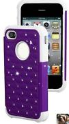 iPhone 4 Otterbox Defender Purple White