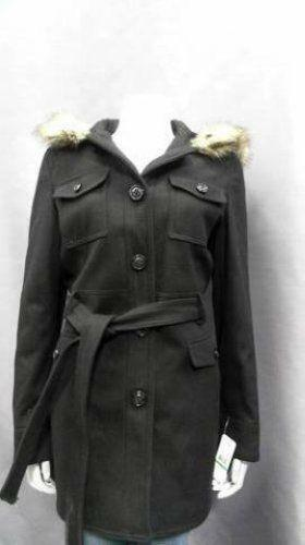 Womens Belted Pea Coat Ebay